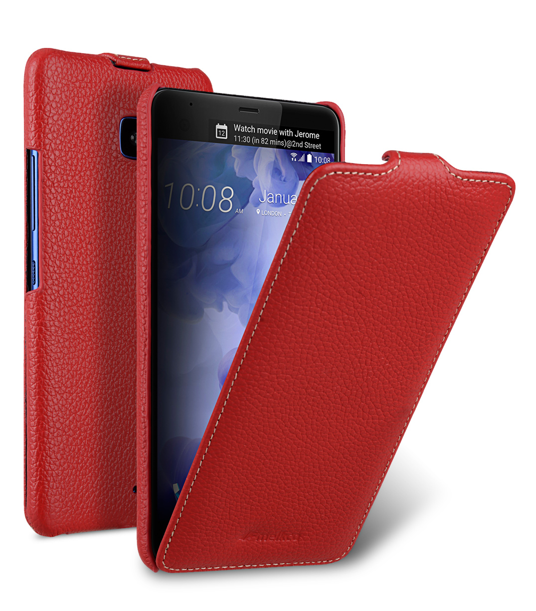 Melkco Premium Leather Case for HTC U Ultra - Jacka Type ( Red LC )