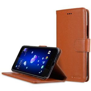 Premium Leather Case for HTC U11 - Wallet Book Clear Type Stand