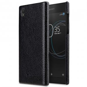 Premium Leather Snap Cover for Sony Xperia L1 - (Black LC)