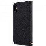 Fashion Cocktail Series Slim Flip Case for Apple iPhone X - (Black Cross Pattern)