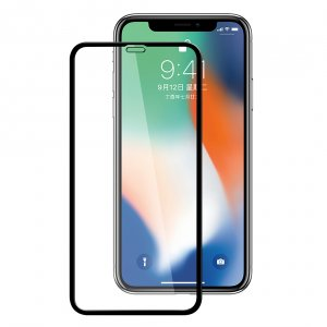 "Melkco 3D Curvy 9H Tempered Glass Screen Protector for Apple iPhone X Plus (6.5"") - (Black)"