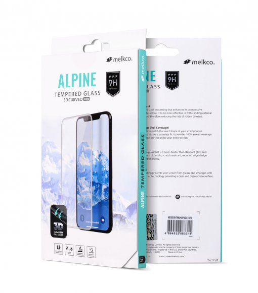 Melkco 3D Curvy 9H Tempered Glass Screen Protector for Samsung Galaxy A6 Plus (2018) - (Black)
