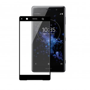 Melkco 3D Curvy 9H Tempered Glass Screen Protector for Sony Xperia XZ2 Premium - ( Black )