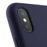 Melkco Aqua Silicone Case for Apple iPhone X - (Dark Blue)