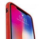 Melkco Aqua Silicone Case for Apple iPhone X - (Red)