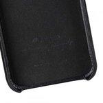 Melkco Elite Series Waxfall Pattern Premium Leather Coaming Pocket Case for Apple iPhone XR - (Black WF)