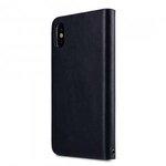 Melkco Fashion Cocktail Series Slim Flip Premium Leather Case for Apple iPhone X - (Italian Navy)
