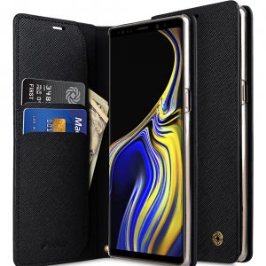 Fashion Cocktail Series Cross Pattern Premium Leather Slim Flip Type Case for Samsung Galaxy Note 9