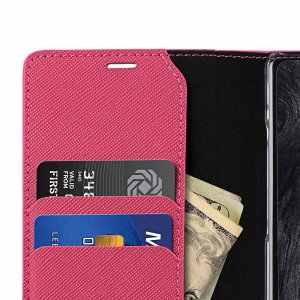 Melkco Fashion Cocktail Series Cross Pattern Premium Leather Slim Flip Type Case for Samsung Galaxy Note 9 - ( Peach CP )