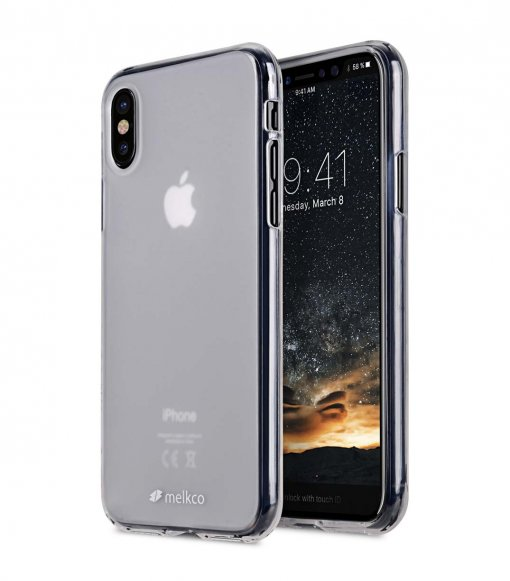 Poly Jacket TPU Case for Apple iPhone X - (Transparent Mat )