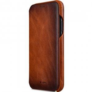 "Melkco Elite Series Premium Leather Face Cover Back Slot Case for Apple iPhone XR (6.1"") - (Tan)"