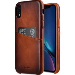 "Melkco Elite Series Premium Leather Snap Back Pocket Case for Apple iPhone XR (6.1"") - ( Tan )"