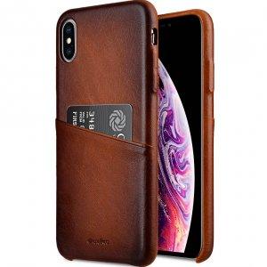 "Melkco Elite Series Premium Leather Snap Back Pocket Case for Apple iPhone XS Max (6.5"") - ( Tan )"