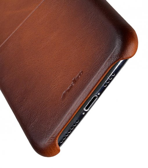 "Melkco Elite Series Premium Leather Snap Back Pocket Case for Apple iPhone XS Max (6.5"") - ( Tan )"