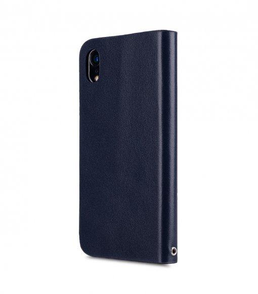 Melkco Fashion Cocktail Series Premium Leather Slim Flip Type Case for Apple iPhone XR - (Navy)