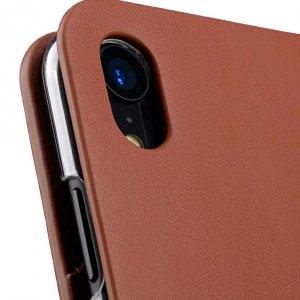 Melkco Fashion Cocktail Series Premium Leather Slim Flip Type Case for Apple iPhone XR - (Orange Brown)