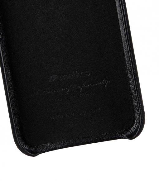 Melkco Origin Series Premium Sheep Leather Regal Snap Cover Case for Apple iPhone X / XS - ( Black )