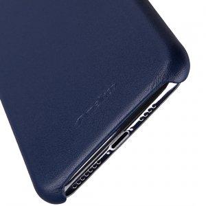 Melkco Origin Series Premium Sheep Leather Regal Snap Cover Case for Apple iPhone X / XS - ( Dark Blue )