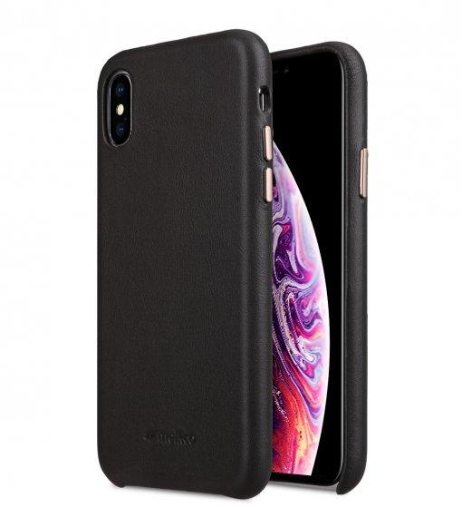 Melkco Origin Series Premium Sheep Leather Regal Snap Cover Case for Apple iPhone X / XS - ( Grey )