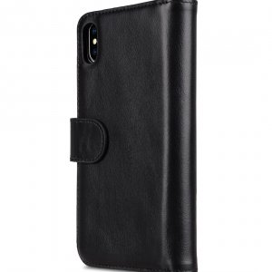 "Melkco Alphard Series Waxfall Pattern Premium Leather Alphard Wallet Plus Case for Apple iPhone XS Max (6.5"") - ( Black WF )"