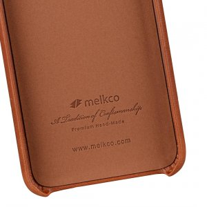 Melkco Elite Series Waxfall Pattern Premium Leather Coaming Snap Cover Case for Apple iPhone XS Max - ( Tan WF )