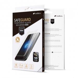 Melkco 3D Curvy Glass Screen Protector for Samsung Galaxy S10 - ( Black Frame )