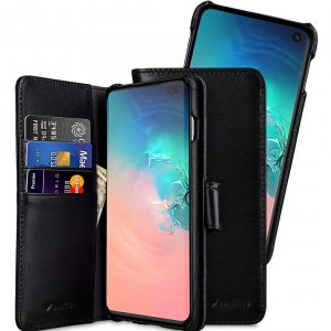 Melkco Alphard Series Waxfall Pattern Premium Leather Alphard Type Case for Samsung Galaxy S10+ - ( Black WF )