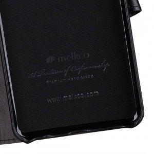 Melkco Alphard Series Waxfall Pattern Premium Leather Alphard Type Case for Samsung Galaxy S10+ - ( Black WF )