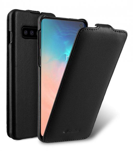 Melkco Jacka Series Premium Leather Jacka Type Case for Samsung Galaxy S10 - ( Black )