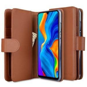 Melkco Wallet Book Series Crazy Horse Premium Leather Wallet Plus Book Type Case for Huawei P30 Lite - ( Brown CH )