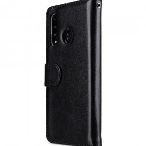 Melkco Wallet Book Series PU Leather Wallet Book Clear Type Case for Huawei P30 Lite - ( Black )