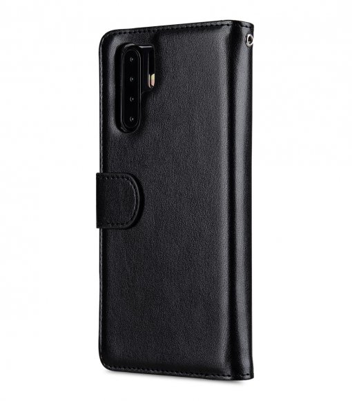Melkco Wallet Book Series PU Leather Wallet Book Clear Type Case for Huawei P30 Pro - ( Black )