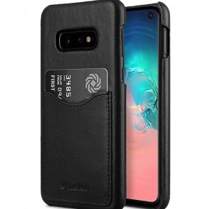 Premium Leather Card Slot Back Cover V2 Case for Samsung Galaxy S10e