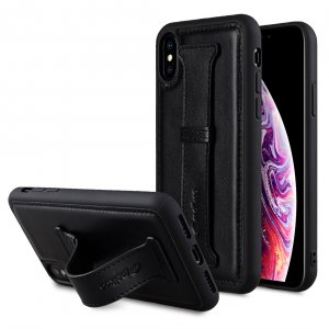Origin Series Premium Leather Arched-Back Cover Case for Apple iPhone X / XS