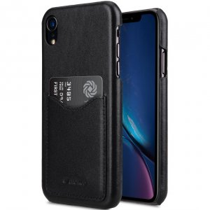 Premium Leather Card Slot Back Cover Case for Apple iPhone XR