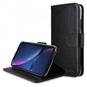 Premium Leather Case for Apple iPhone XR - Wallet Book Clear Type Stand
