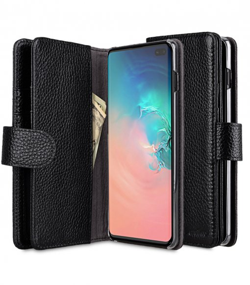 Premium Leather Wallet Plus Book Type Case for Samsung Galaxy S10+