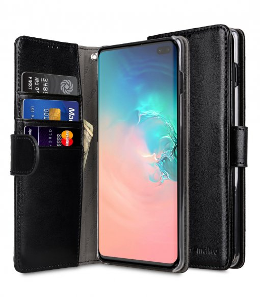 PU Leather Wallet Book Clear Type Case for Samsung Galaxy S10+