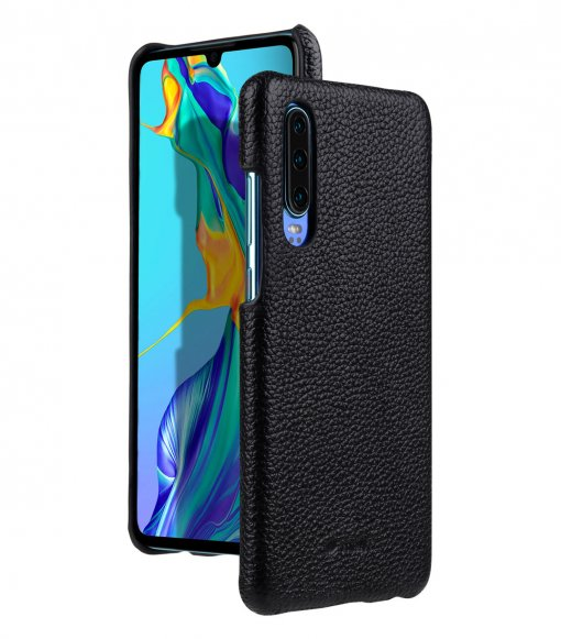 Premium Leather Snap Cover Case for Huawei P30