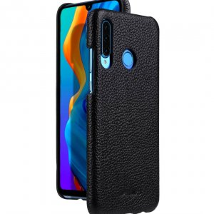 Premium Leather Snap Cover Case for Huawei P30 Lite