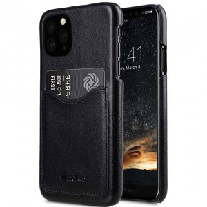 PU Leather Card Slot Back Cover V2 Case for Apple iPhone 11 Pro Max