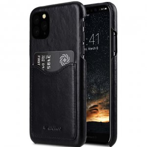Premium Leather Card Slot Back Cover V2 Case for Apple iPhone 11 Pro