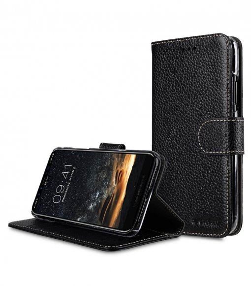 """Premium Leather Wallet Book Clear Type Stand Case for Apple iPhone 11 (6.1"""")"""