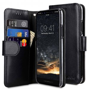 PU Leather Wallet Book Clear Type Case for Apple iPhone 11