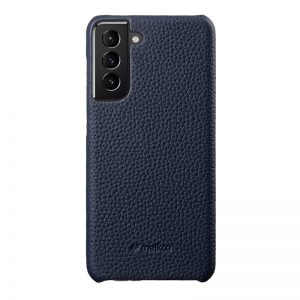 Back Snap Series Lai Chee Pattern Premium Leather Snap Cover Case for Samsung Galaxy S21+-1