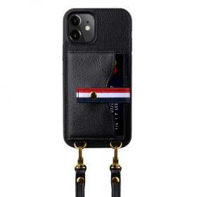 Melkco Fashion Paris series leather case with strap for iPhone 12 Pro Max