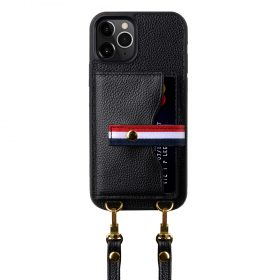 Melkco Fashion Paris series leather case with strap for iPhone 12